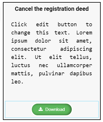 Image of button with document heading and description