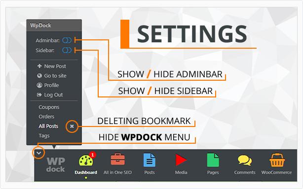 Menu WordPress plugin - Wpdock - 3