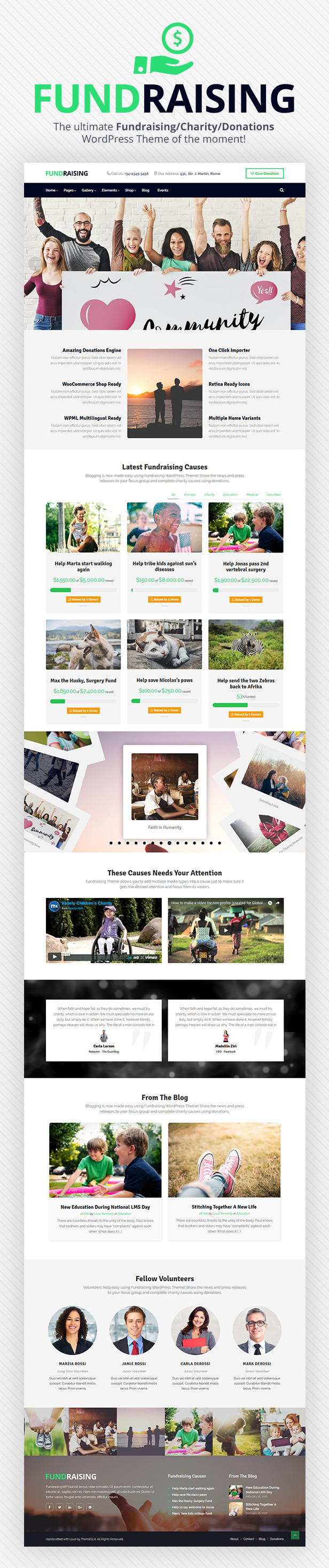 Fundraising - Charity/Donations WordPress Theme - 2