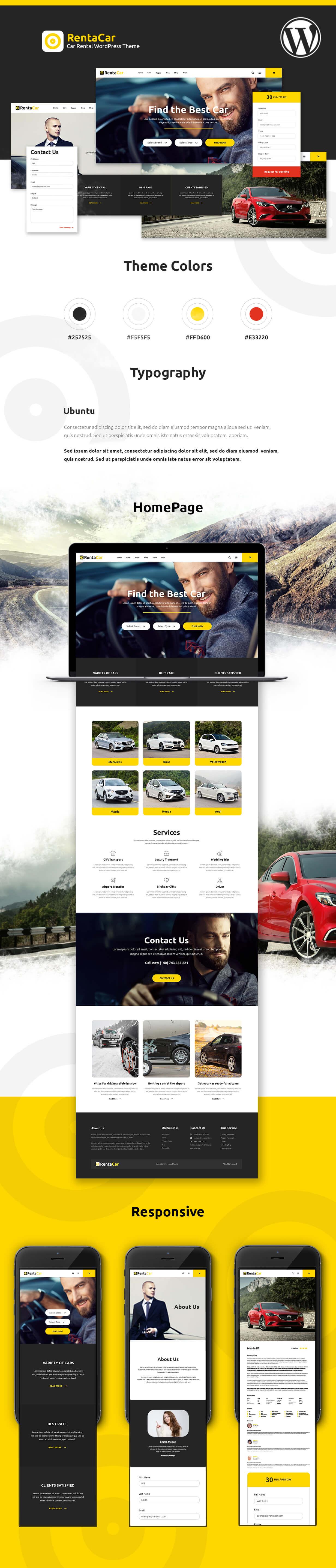 Rentacar - Car Rental / Listing WordPress Theme - 4
