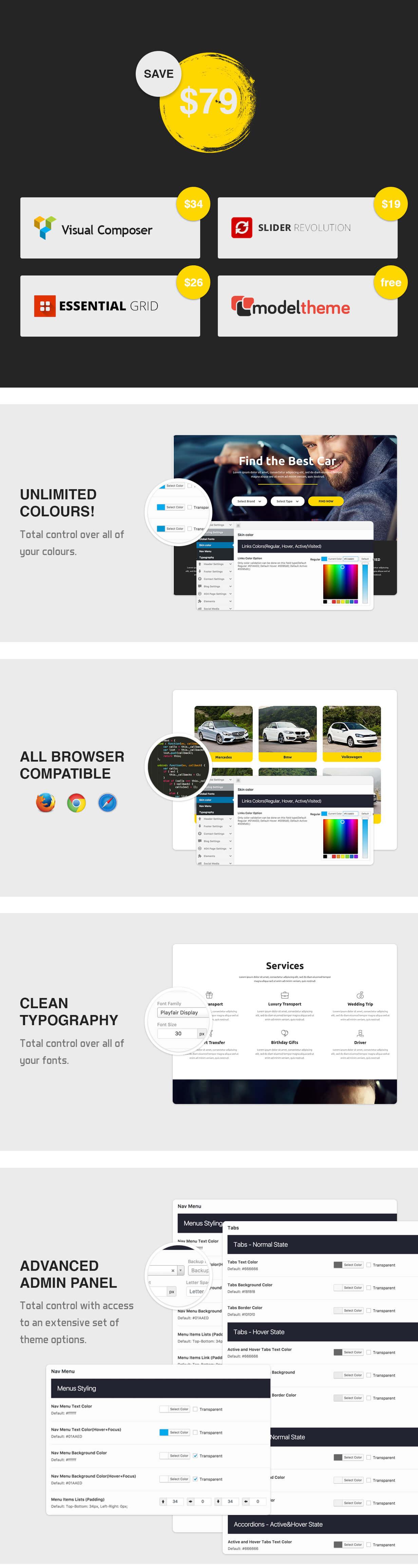 Rentacar - Car Rental / Listing WordPress Theme - 7
