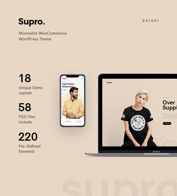 Supro - Minimalist AJAX WooCommerce WordPress Theme - 8