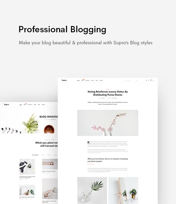 Supro - Minimalist AJAX WooCommerce WordPress Theme - 21