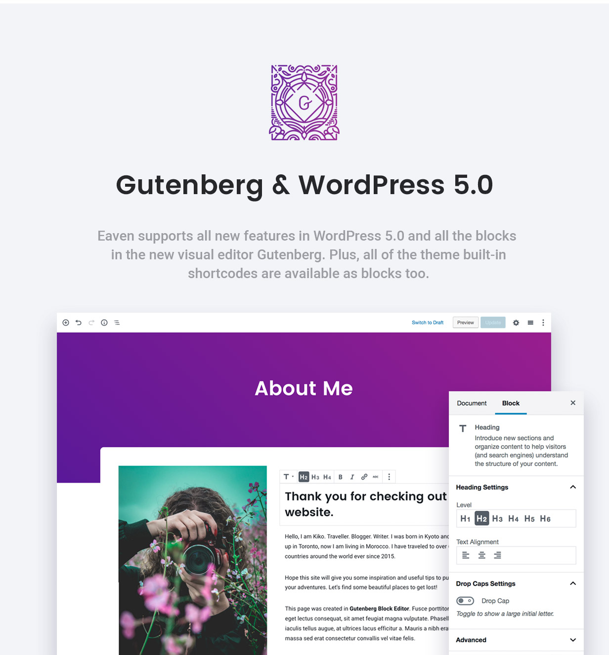Ready for Gutenberg Editor