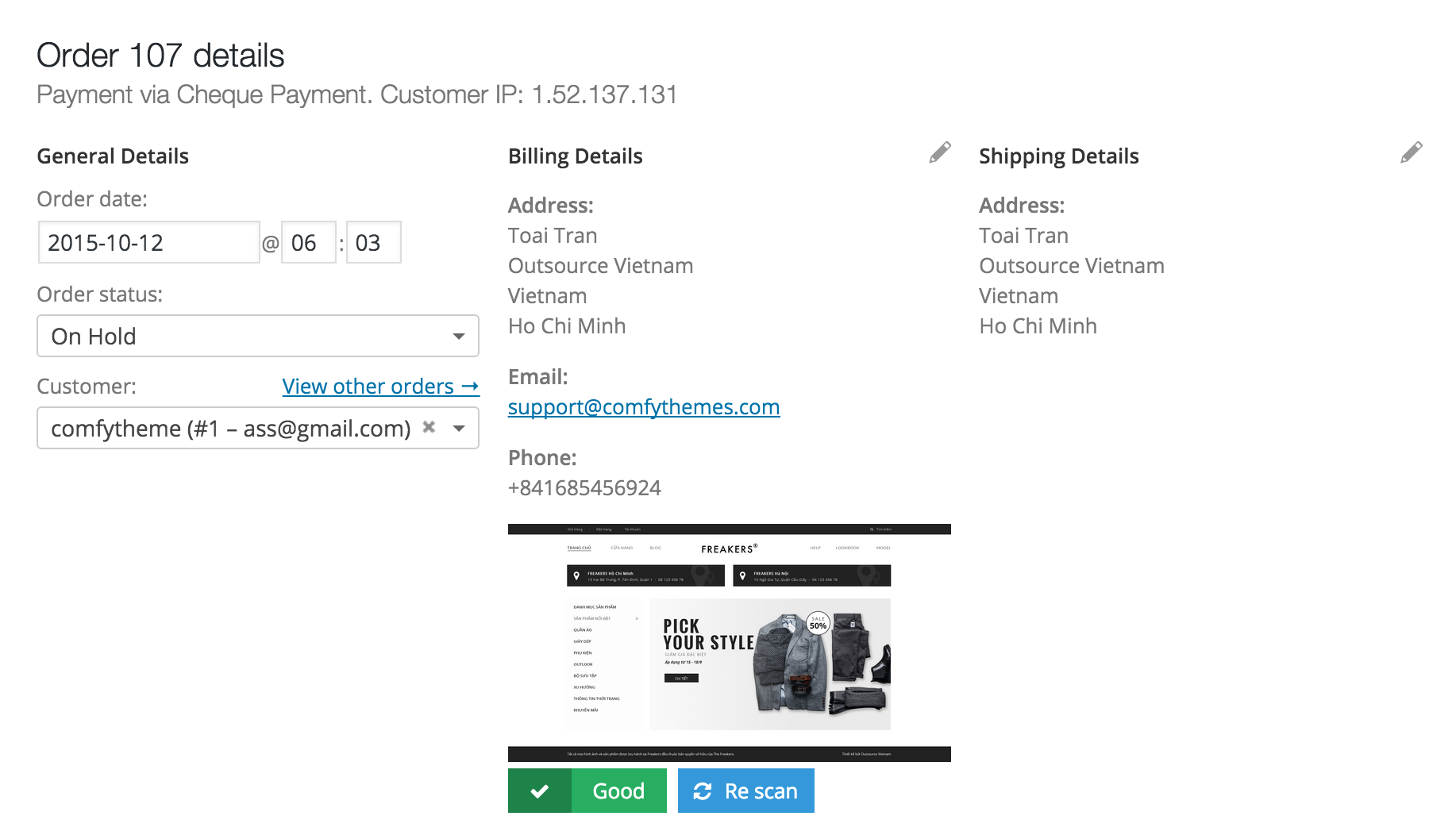 scan virus file wordpress woocommerce