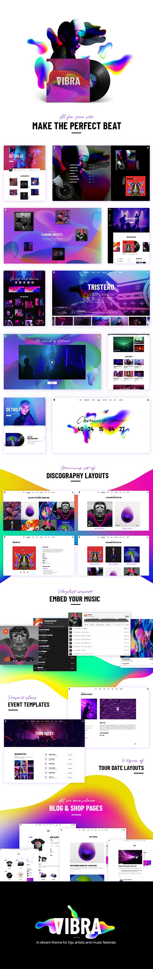Vibra - Music Theme for DJs, Artists and Festivals - 1