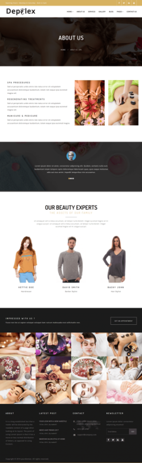 Depilex Salon - Parlour - Spa - Gym - Multipurpose WP Theme - 4