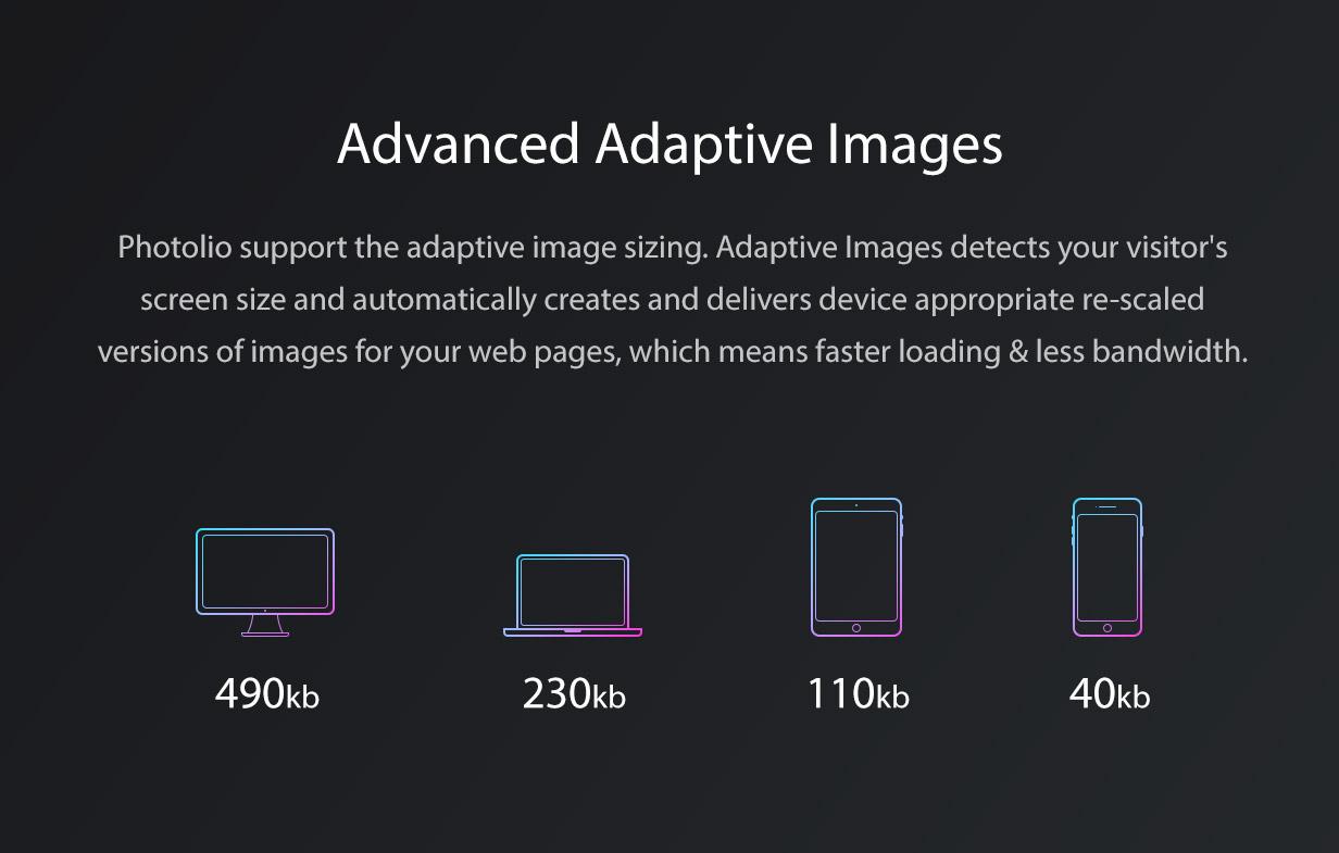 Photolio WordPress Adaptive Images