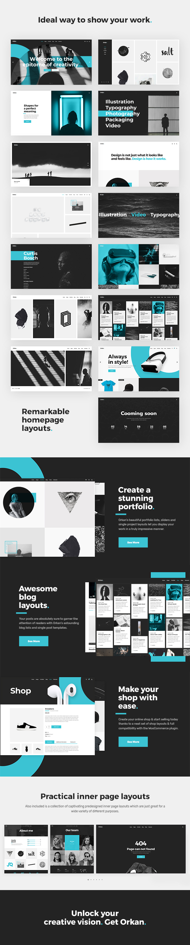 Orkan - Artist and Design Agency Portfolio Theme - 1