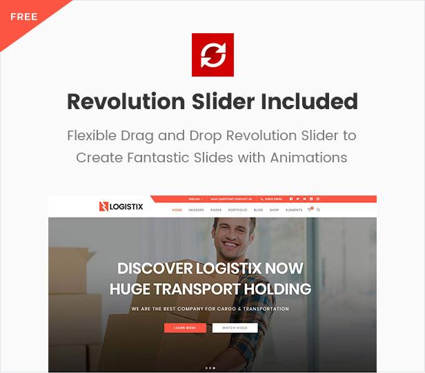 Logistix | Responsive Transportation WordPress Theme - 6