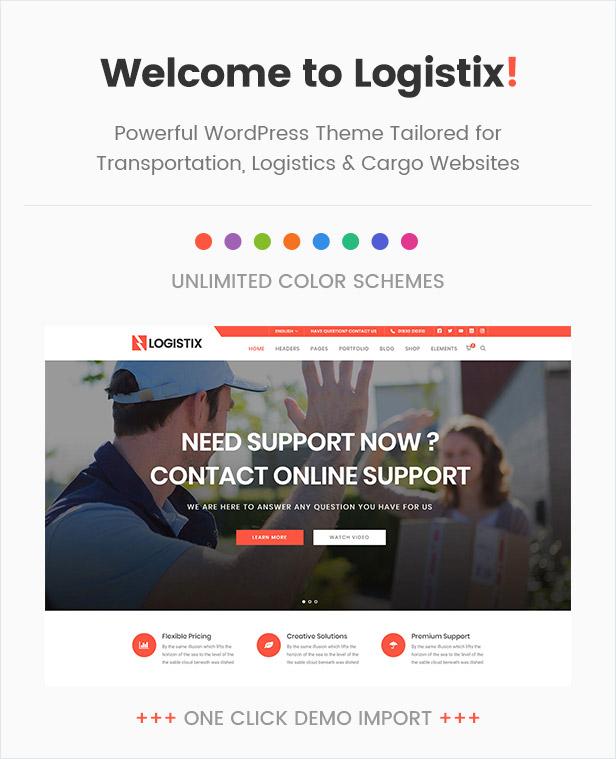 Logistix | Responsive Transportation WordPress Theme - 2
