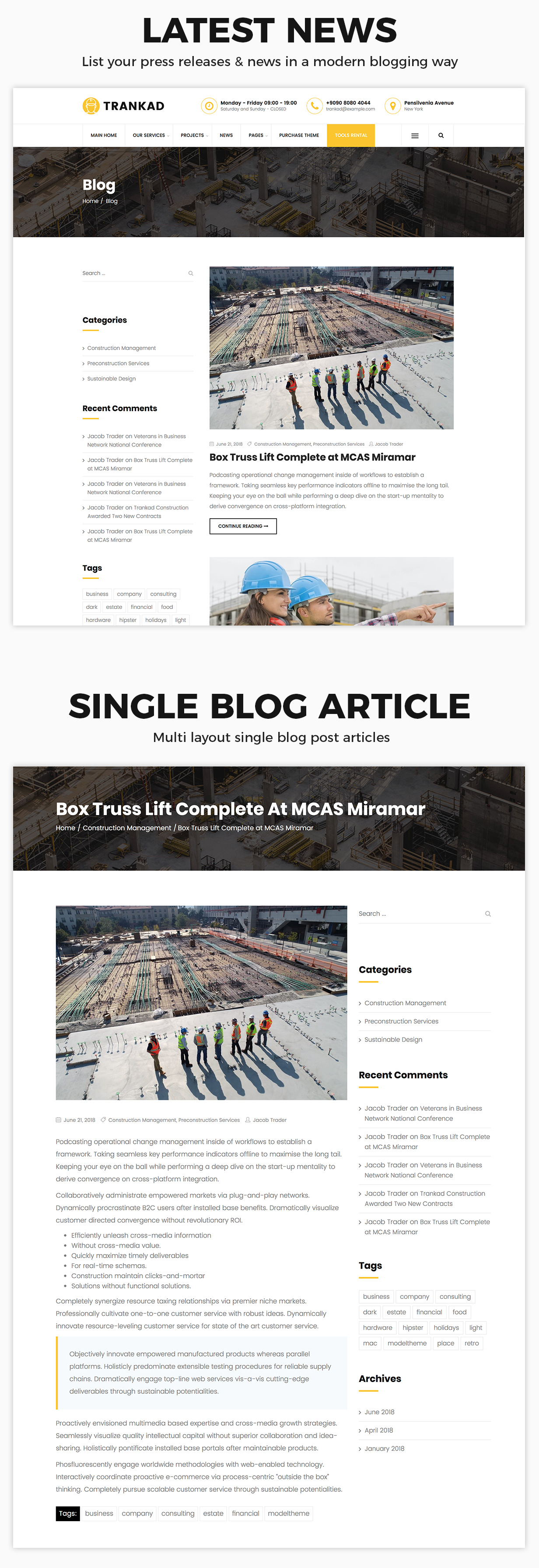 Trankad - Construction WordPress Theme - 8
