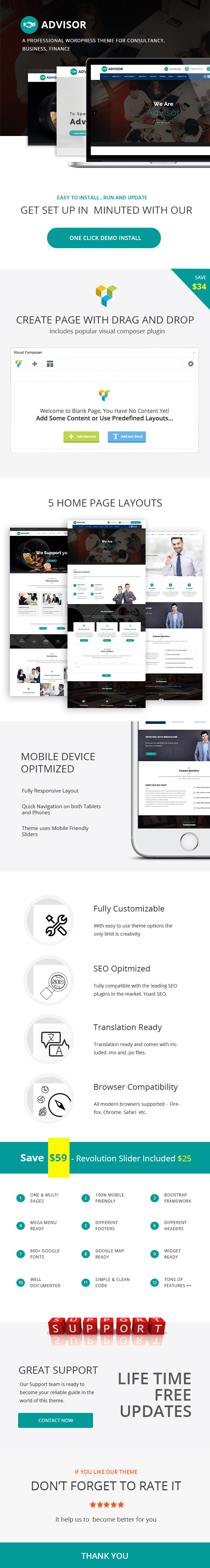 Advisor  - Startup Business & Digital Marketing WordPress Theme - 1