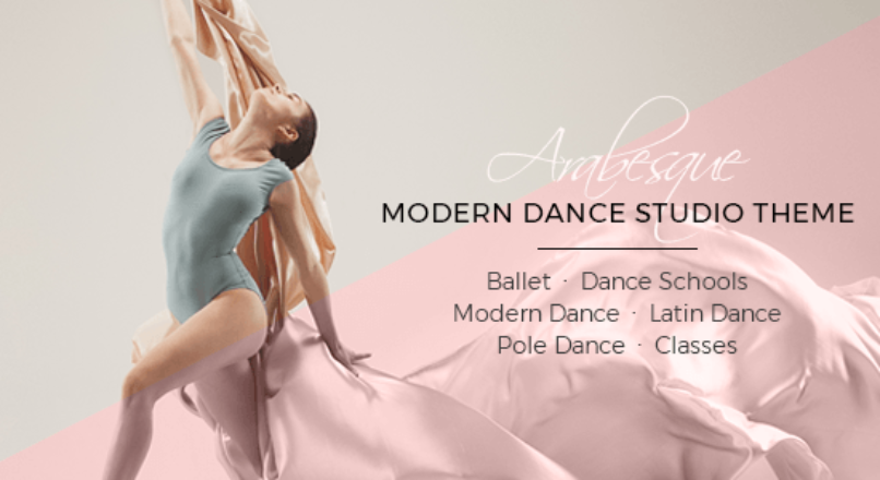Arabesque – Modern Ballet School and Dance Studio Theme