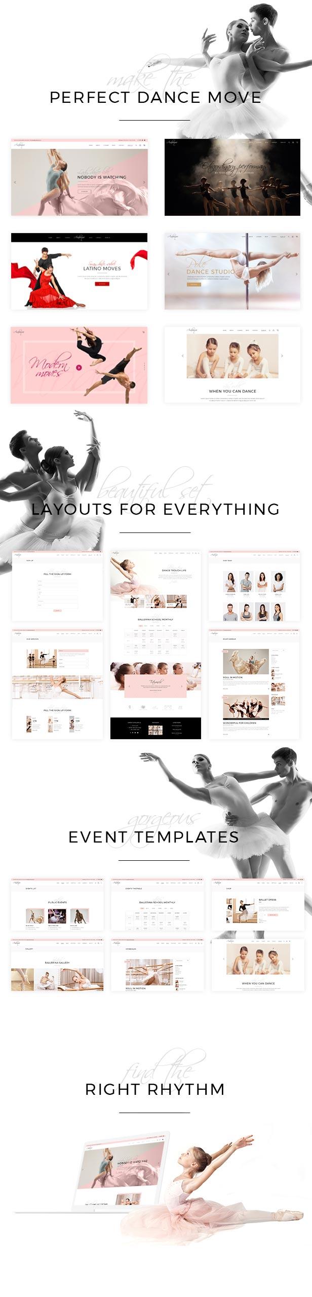 Arabesque - Modern Ballet School and Dance Studio Theme - 1