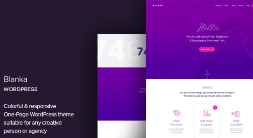 Blanka – One Page WordPress Theme
