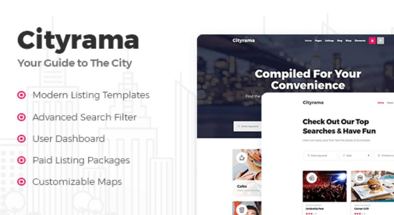 Cityrama – Listing & City Guide Theme
