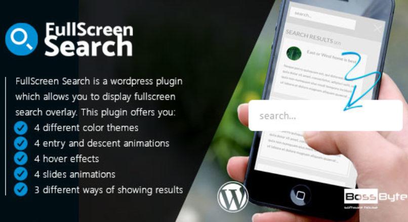 FullScreen Search WordPress Plugin