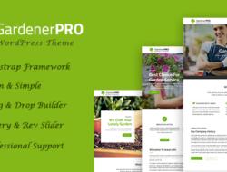 GardenerPro – Gardening & Lawn Care Landscaping WordPress Theme