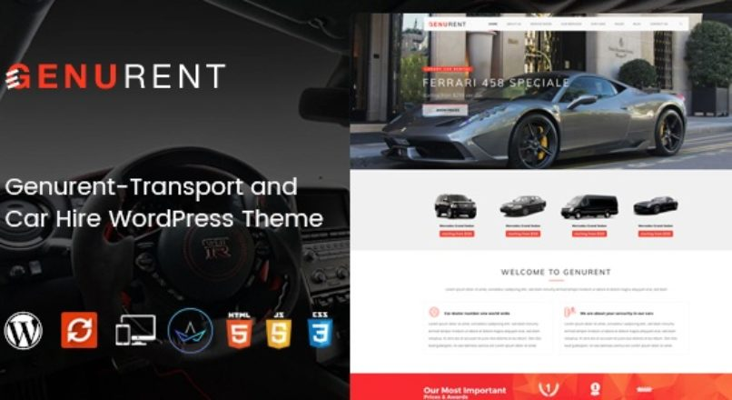 Genurent – Transport and Car Hire WordPress Theme