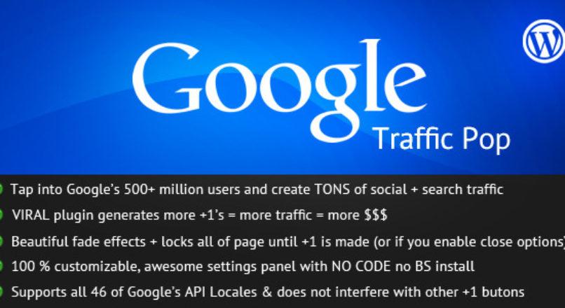 Google Traffic Pop for WordPress