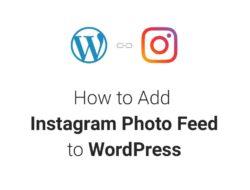 How to Add Instagram Photo Feed to WordPress Website