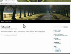How to – WordPress Install through QuickInstall at HostGator.com