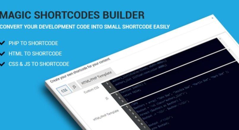 Magic Shortcodes Builder