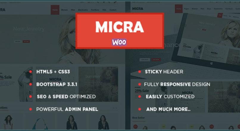 Micra – Multipurpose Responsive WooCommerce WordPress Theme