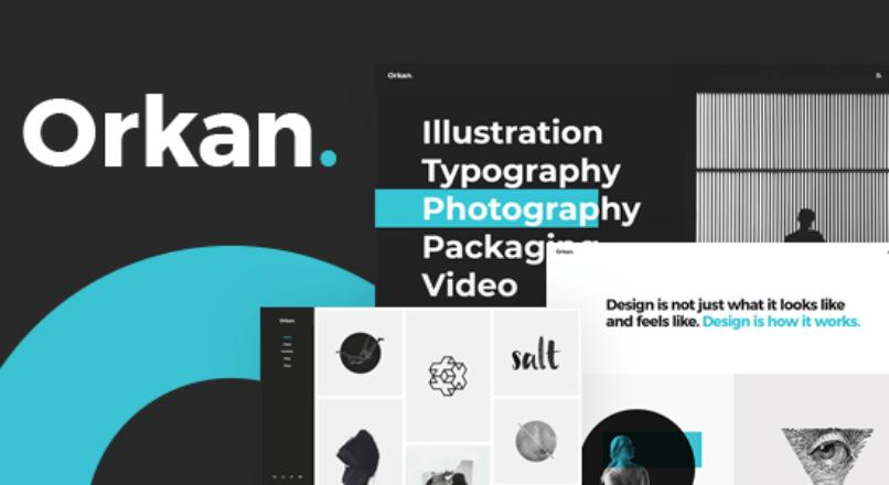 Orkan – Artist and Design Agency Portfolio Theme