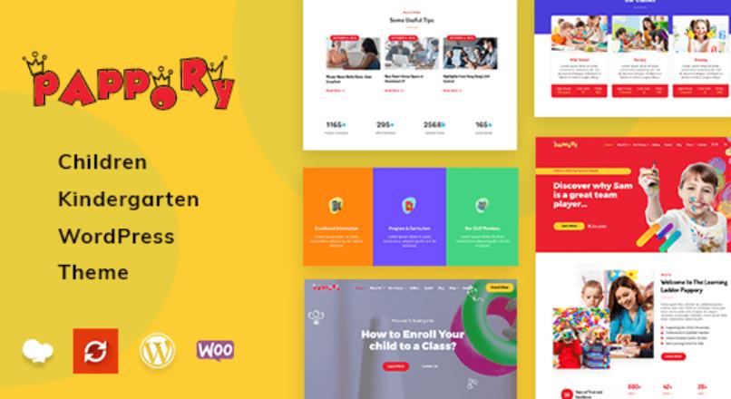 Pappory – Children Kindergarten WordPress Theme