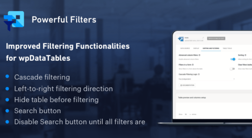 Powerful Filters for wpDataTables – Cascade Filter for WordPress Tables