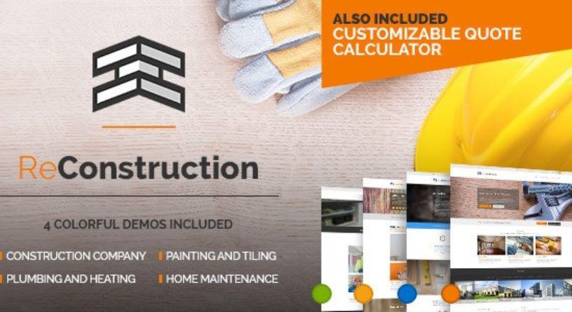 ReConstruction – Contractor & Building Theme