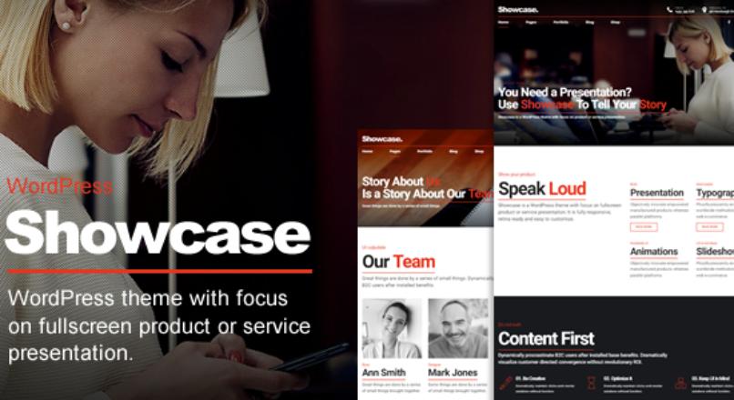 Showcase – Fullscreen Slides WordPress Theme