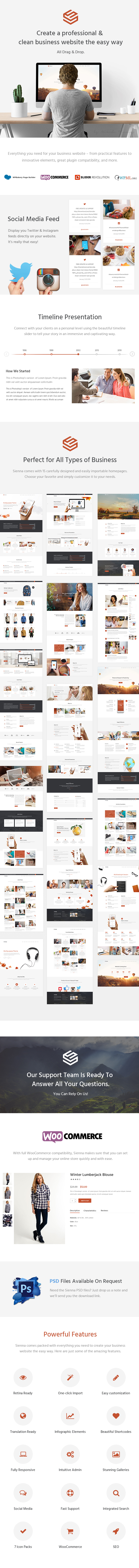 Sienna - Professional Business Theme - 1
