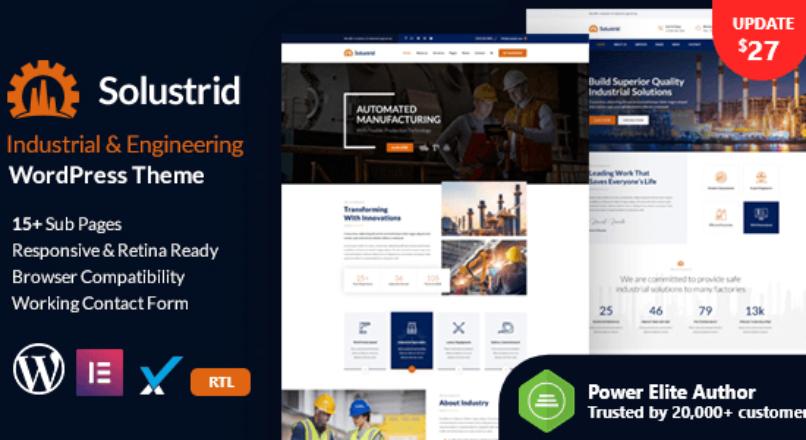 Solustrid – Factory & Industrial Business WordPress Theme