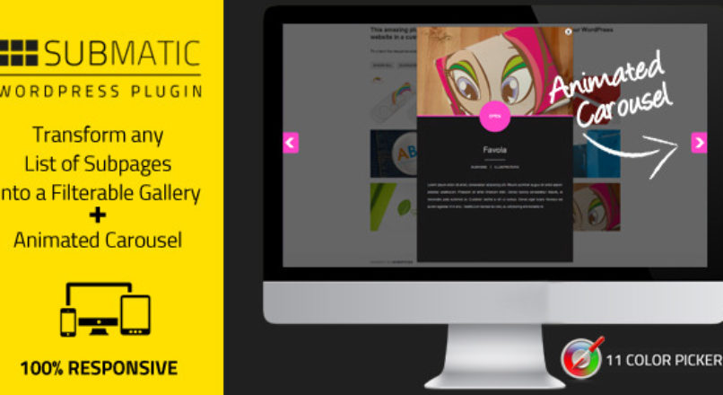 Submatic: List WordPress Subpages As Galleries