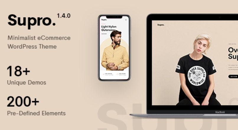 Supro – Minimalist AJAX WooCommerce WordPress Theme