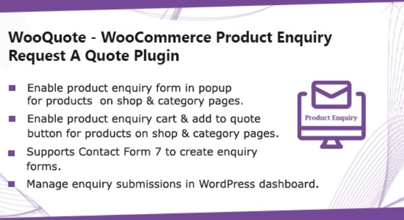 WooQuote – WooCommerce Product Enquiry & Request A Quote Plugin