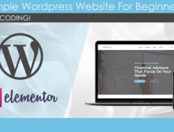 WordPress Website Build For Beginners