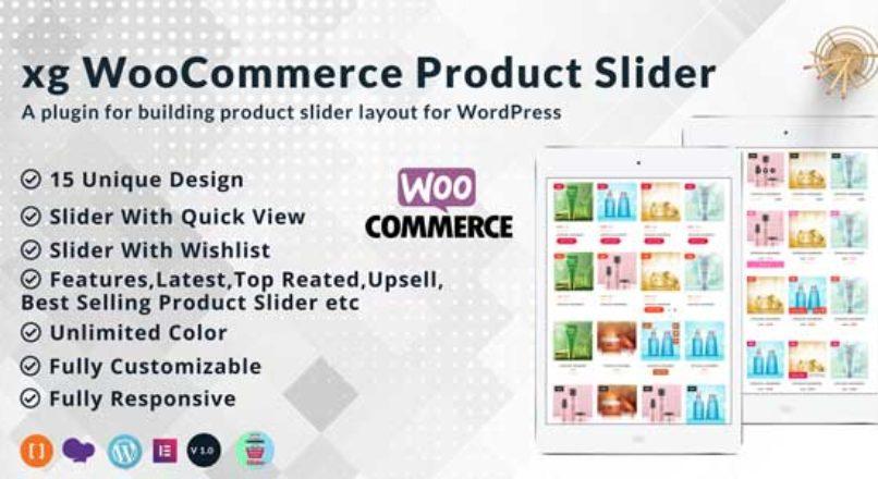 xg WooCommerce product slider   product quick view   product  wishlist all in one product slider.