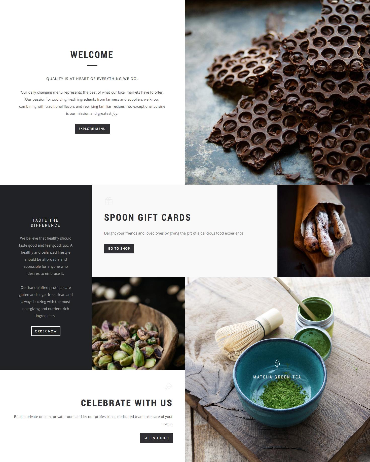 Spoon – a Premium Responsive Restaurant WordPress Theme - 2