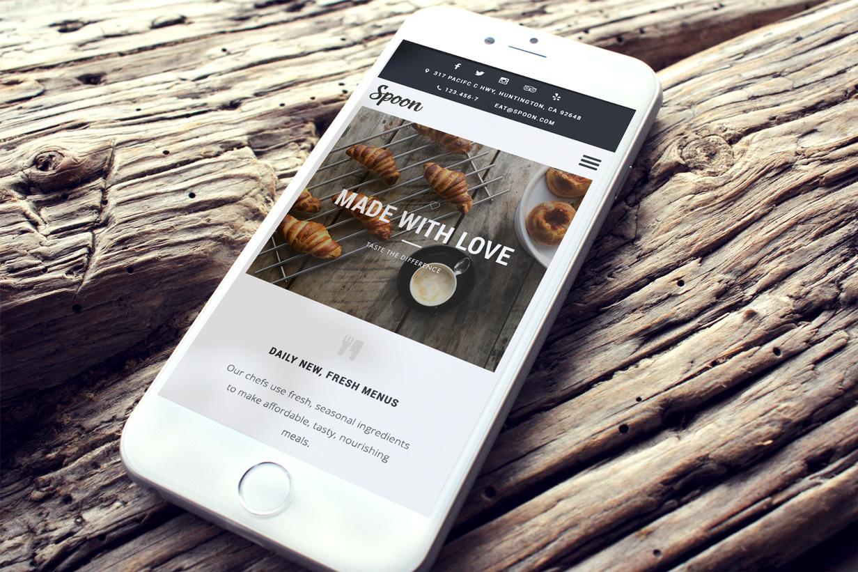 Spoon – a Premium Responsive Restaurant WordPress Theme - 1