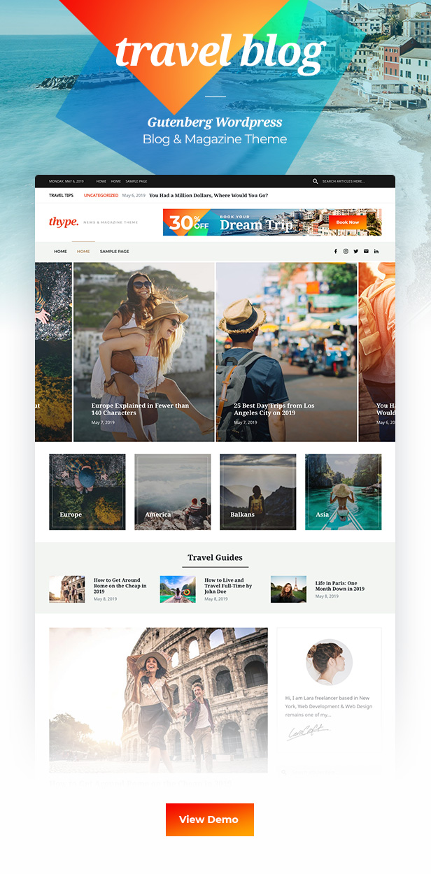 Thype | Multi-Concept Blog & Magazine WordPress Theme - 1