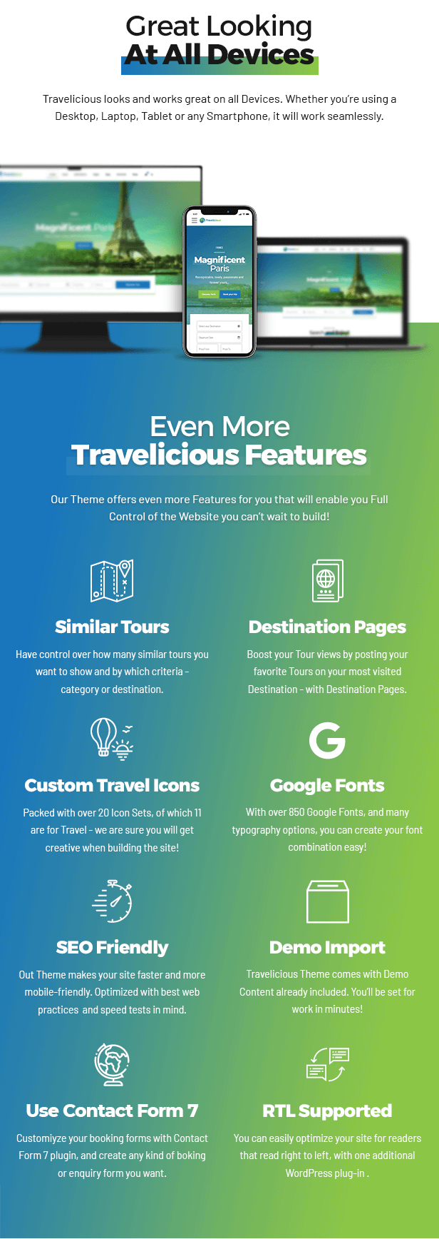 Travelicious - Tour Operator Theme - 9