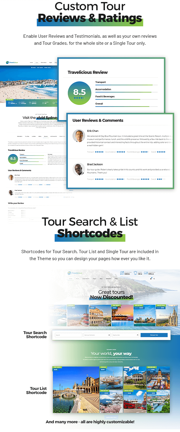 Travelicious - Tour Operator Theme - 6