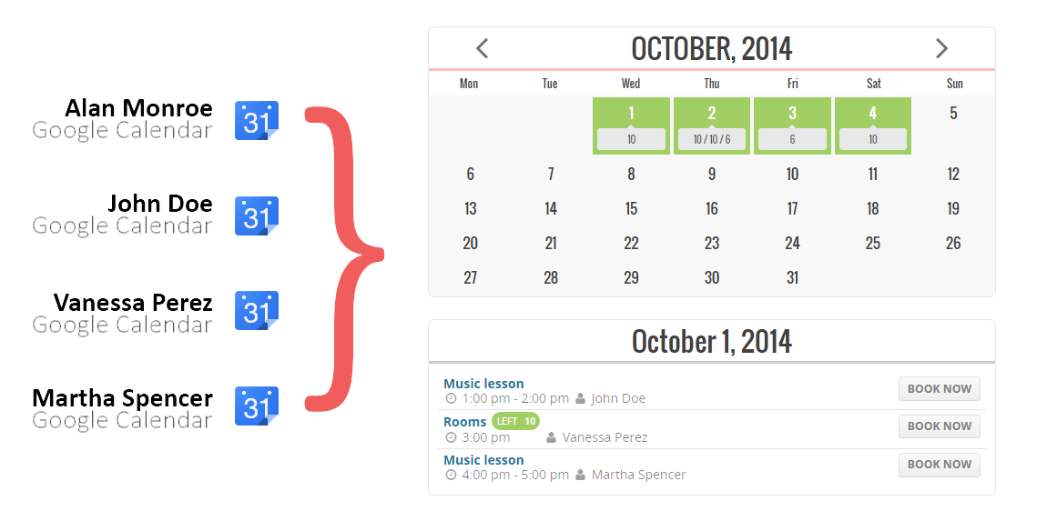 Team Booking - WordPress booking system - 1