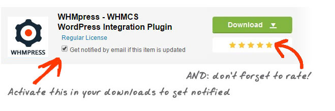 Rate WHMpress - WHMCS WordPress Integration Plugin