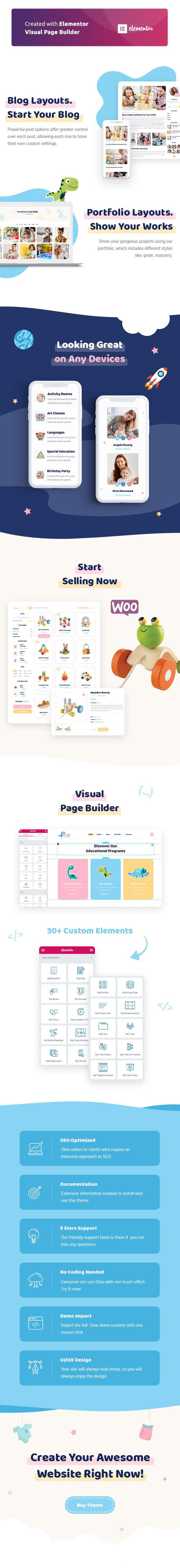 Littledino - Modern Kids WordPress Theme - 2