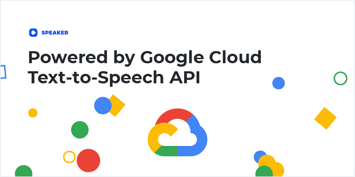 Powered by Google Cloud Text-to-Speech API